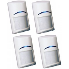 PACK of 4 Bosch Blue Line Wired Intruder Alarm PIR Motion Detector