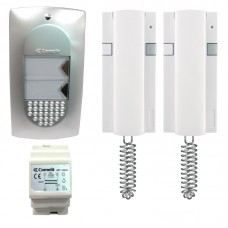 Comelit 8272 Audio Door Entry Intercom Kit with 2 Call Buttons and 2 Handsets