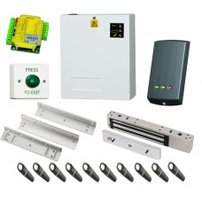 Paxton Switch 2 Access Control Kit with 10 Proximity Fobs, Power Supply and Maglock with Z&L for inward opening Doors