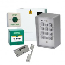 Weatherproof METAL 21 Code Access Control Kit with Power Supply and FAIL SAFE Lock Release