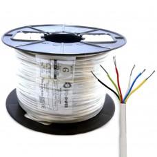 6 Core Intruder Burglar Alarm Cable 100 Meter Reel