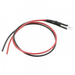 12 Volt DC Flashing LED with Pre-wired Lead - RED