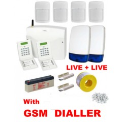 Eurosec CP8L Wired Alarm Kit with GSM SMS CALL Dialler