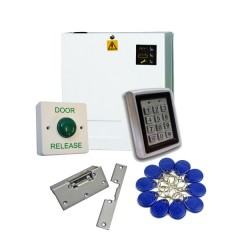 Proximity Code Keypad Access Control Kit with Power Supply and Lock Release