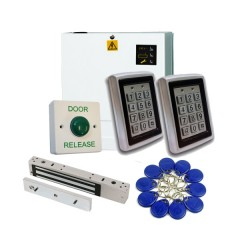 Access Control Kit for Granting Access IN and OUT of a Single Door, Proximity Tag or PIN Code Operation