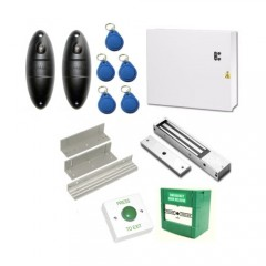 Weatherproof IP68 Access Control Kit for Granting Access IN and OUT of a Single Inward Opening Door, Proximity Operation