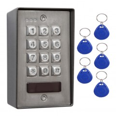 Heavy Duty Stainless Steel Anti-vandal Access Control Keypad with Proximity. 100 Users