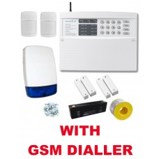 Texecom Veritas 8 LED Wired Burglar Alarm Kit, 2 Dualteh PIRs with GSM Dialler, Ideal for Garages and Workshops