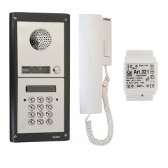 Videx One Call Button Audio Door Entry Kit with Integrated Access Control Coded Keypad