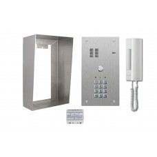 Anti-Vandal One Call Button Door Entry Kit Stainless Steel Surface Mounted with Integrated Code Access Control Keypad
