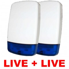 Live Bell Box for Wired Burglar Alarm 115db - Twin Pack