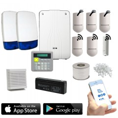 Eaton Scantronic i-on 40 Hybrid Wireless and Wired Intruder Alarm Kit with LCD Keypad and App Control and Alerts