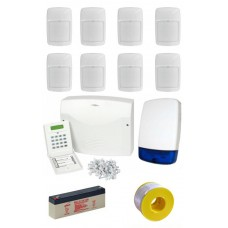 Eurosec CP8L Wired Alarm Kit with 8 PIR Detectors