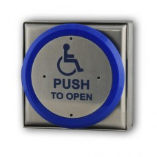 DDA Disabled Stainless Steel Request to Exit Button c/w Stainless Steel Back Box
