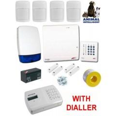 Scantronic 9448-95 Wired Burglar Alarm Kit, Pet Frielndly PIRs with Speech Dialler