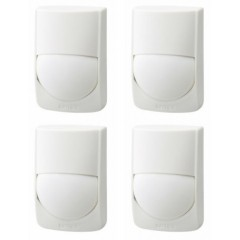 Pack of 4 Quad Element Wired PIR Detector