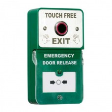Touch Free Request to Exit Button with Integrated Emergency Door Release Call Point