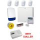 Wired Intruder Burglar Alarm System PROFESSIONAL Kit LCD Keypad, PIRs, Speech Dialler