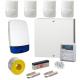 Wired Intruder Burglar Alarm System PROFESSIONAL Kit LCD Keypad with 4 QUAD PIRs