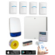SMART Wired Intruder Alarm Kit with LCD Keypad BOSCH PIRs with App User Control and Push Notification Alerts