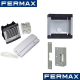 Fermax, Professional 1 Way Audio Door Entry Kit Flush or Surface Mounting with Lock Release