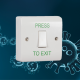 ANTIBACTERIAL, Request to Exit Switch c/w Back Box for Door Entry Access Control