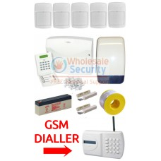 Eurosec CP8L Wired Alarm Kit with GSM Dialler