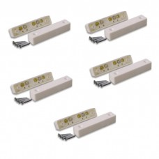 Pack of 5 Wired Alarm Door Contact White