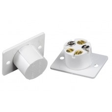 Flush Normally Open Wired Alarm Door Contact White