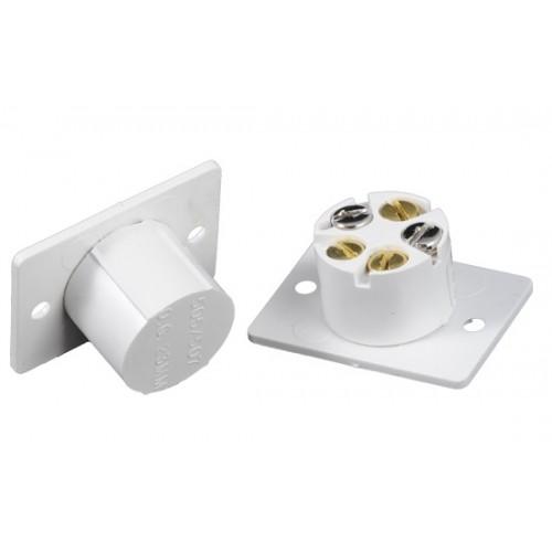Flush Normally Open Wired Alarm Door Contact White  sc 1 st  Wholesale Security & Flush Normally Open Wired Alarm Door Contact White WSDC60FLUSH Alarm ...